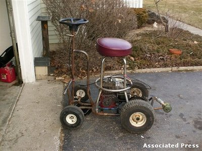 Redneck was cited for DUI on this thing. Only in Ohio.
