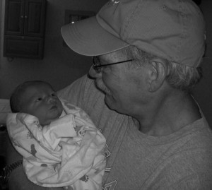 Checking out Grandpa Thriller (sorry about the grayscale...long story)