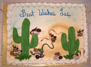The most awesomely cute desert cake (and I do mean desert, not dessert).