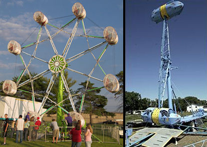 The Rock-O-Plane and the Roll-O-Plane (we also called it the Bullet). Awesome thrill rides.