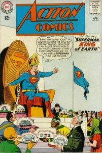 Superman, going all Ming the Merciless