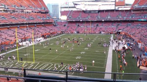 Our view from the upper deck of the Dawg Pound