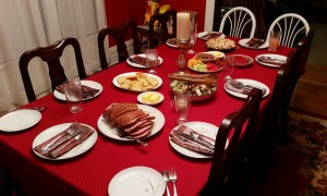 This pretty table was heavy with lots of good food, precious family and tons of laughter.