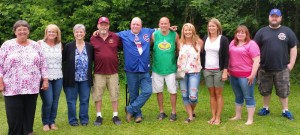 The first generation of Martin grandchildren, in age order. L-R: Mavis, Susie, me, John, Andy, Fred Jr., Kristy, Debbie, Tammi and Ryan.